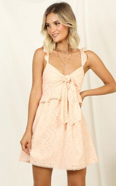 Ok Honey Dress In Peach Embroidery