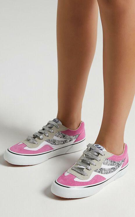 Superga - 2941 Revolley Sneakers in White - Fuchsia