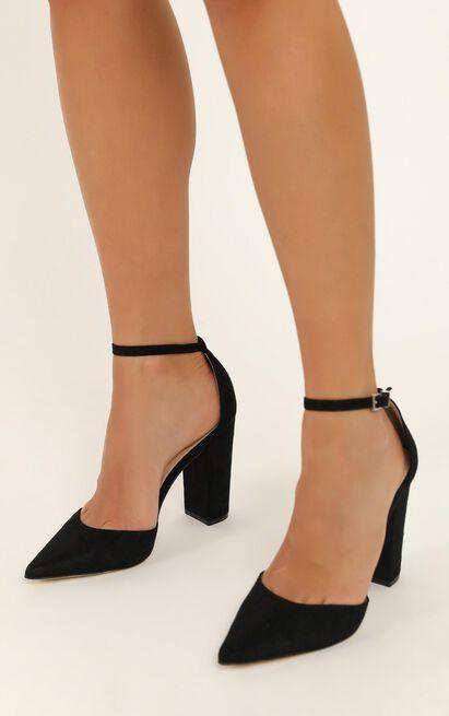 Verali - Arlette heels in black micro - 10, Black, hi-res image number null