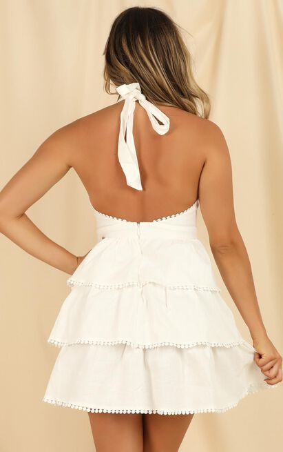 Only Love Can Conquer Hate Dress in white linen - 20 (XXXXL), White, hi-res image number null
