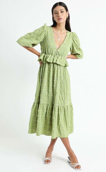 Addilyn Dress in Green Check