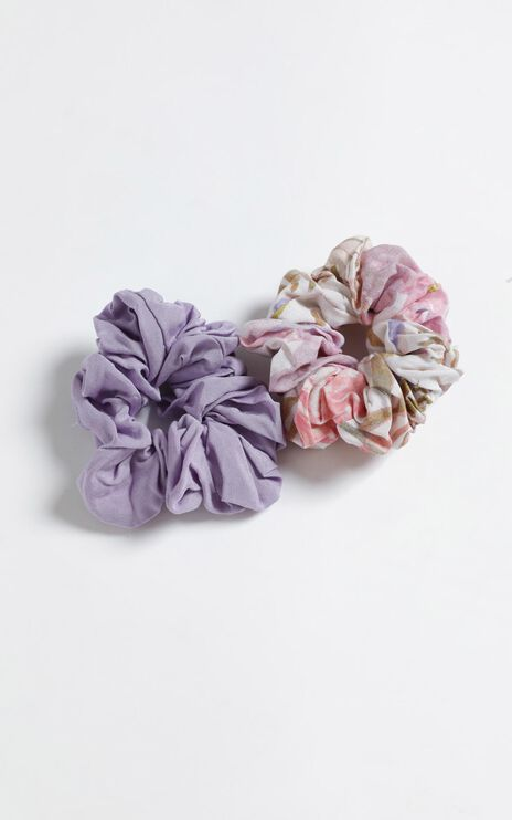 Faded Floral Scrunchie 2 Pack