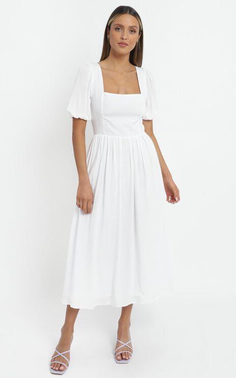 Poppy Dress in White