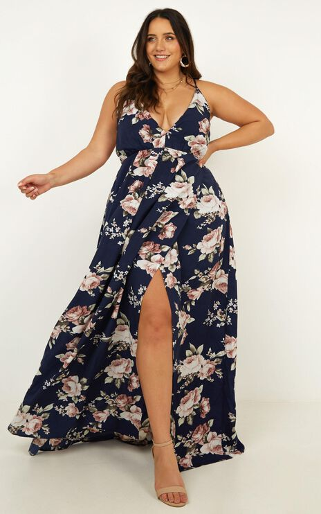 Stella Style Dress In Navy Floral