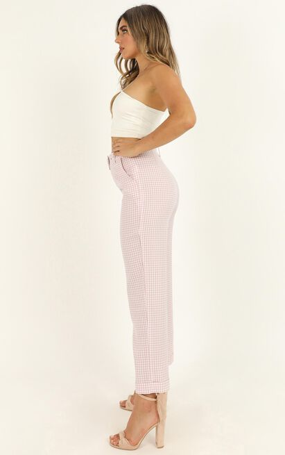 Eyes On The Road Pants In blush check - 20 (XXXXL), Blush, hi-res image number null