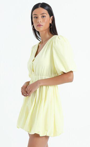 Blathnaid Dress in Lemon