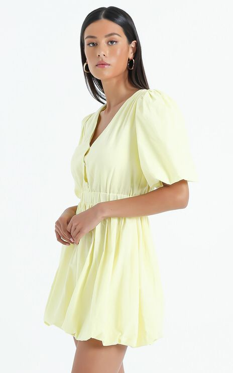 Blathnaid Dress in Lemon