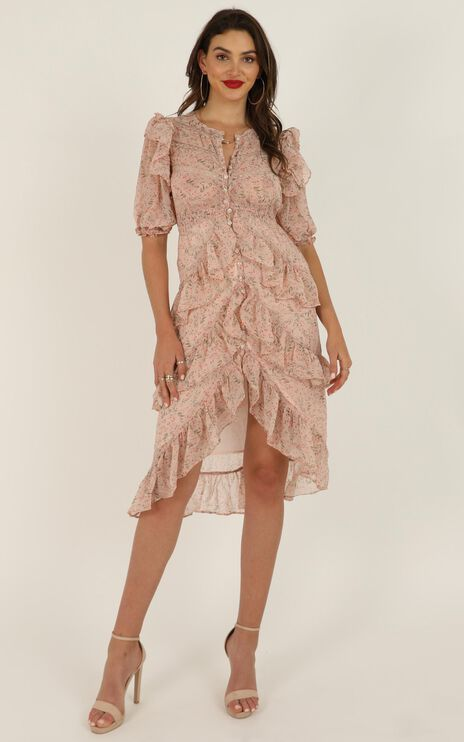 Not About Us Dress In Blush Floral