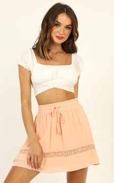 Let Summer Begin Skirt In Peach