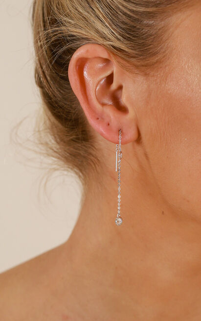 My Only One earrings in silver, , hi-res image number null