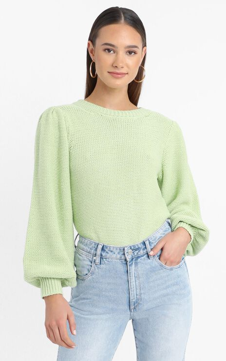 Safia Knit Jumper in Green