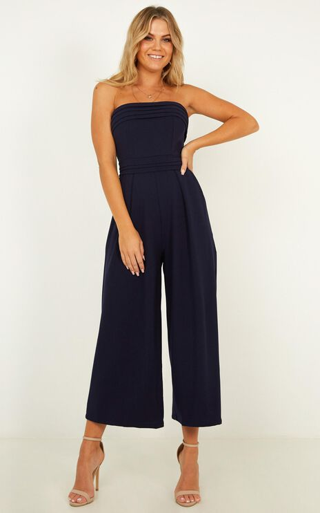 Up Ahead Jumpsuit In Navy