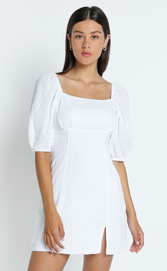 Electric Babe Dress in White