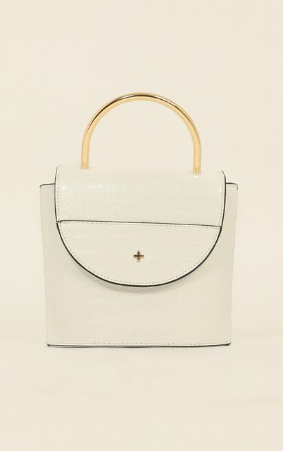 Peta And Jain - CeeCee Bag In  White Croc, White, hi-res image number null