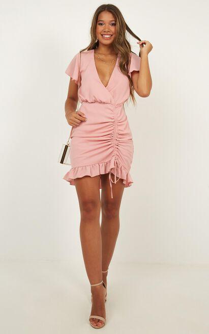 Newbury Street Dress in blush  - 12 (L), Blush, hi-res image number null