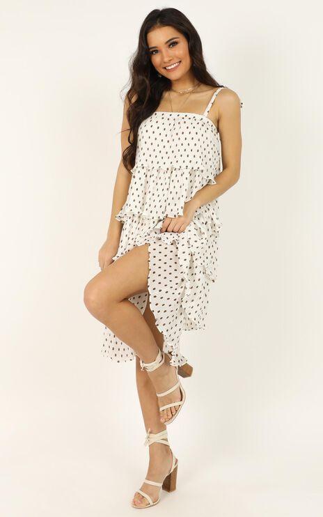 Surprise Surprise Dress In White Spot