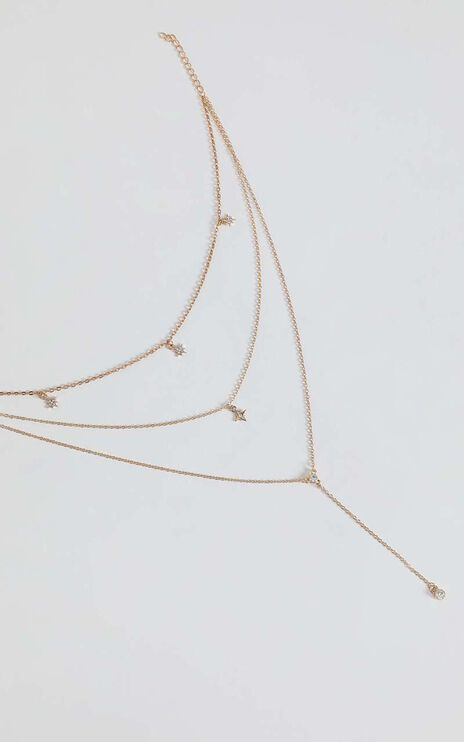 Aimee Layered Necklace in Gold