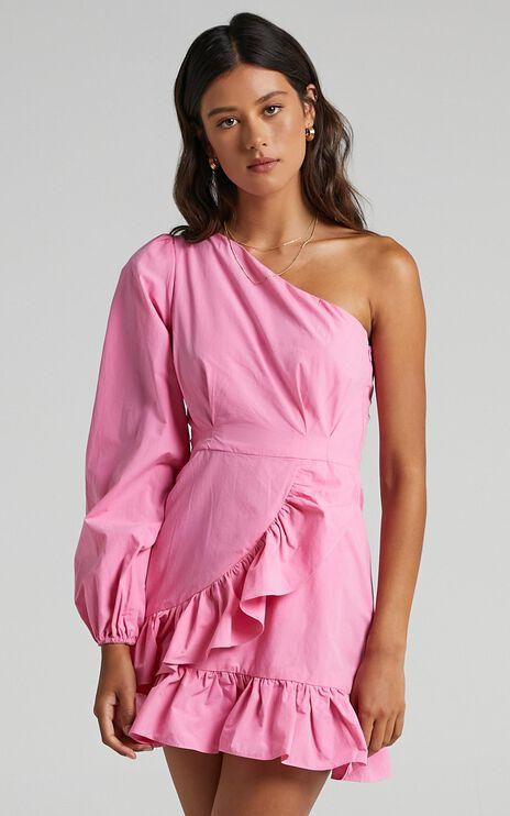 Udele Dress in Bubblegum Pink