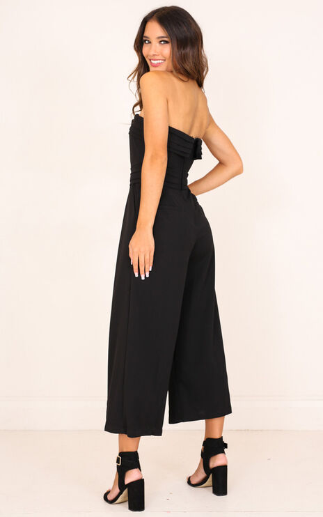 Up Ahead Jumpsuit In Black