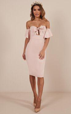 Guest Edit Dress In Blush