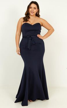 Lasting Moment Dress In Navy