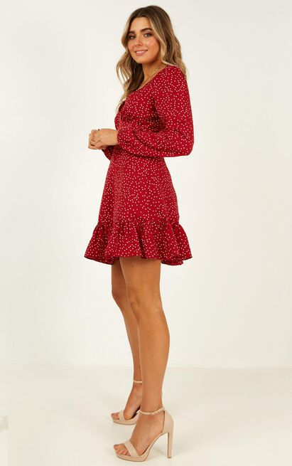 Worlds Away Dress in Wine Polka - 20 (XXXXL), Wine, hi-res image number null