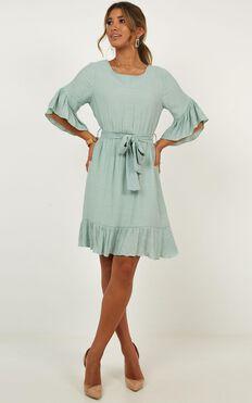 Mentor Dress In Sage