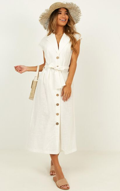 Second crush dress in white - 20 (XXXXL), White, hi-res image number null