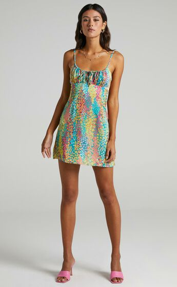 Ive Got You Now Dress in Rainbow Floral
