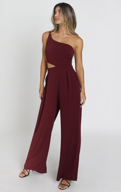 Beautiful Darkness Jumpsuit in wine - 14 (XL), Wine, hi-res image number null
