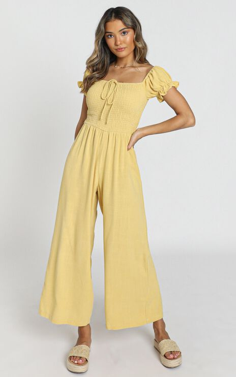 Stacee Jumpsuit in Yellow
