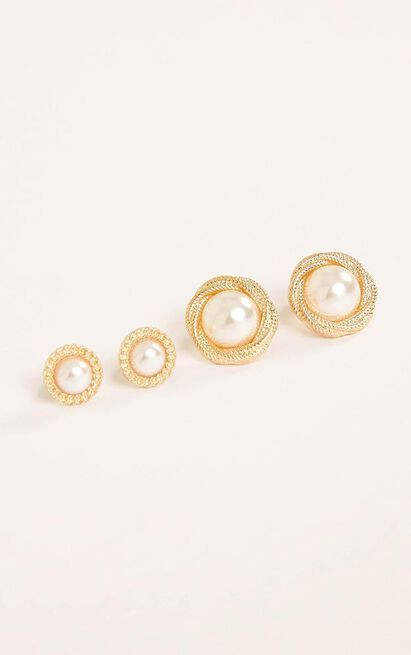 Last Wish Earrings 2 Pack in Gold, , hi-res image number null