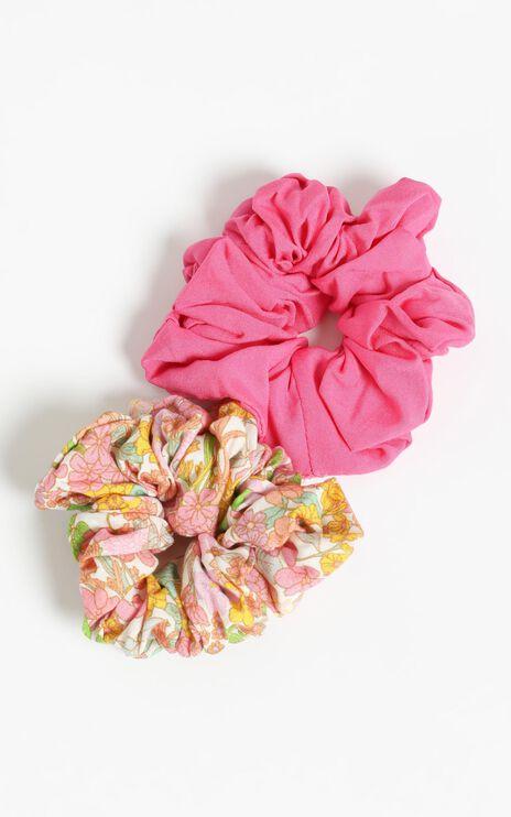 Flower Field Scrunchie 2 Pack