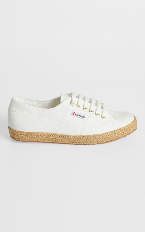 Superga - 2750 Cotrope Sneakers in White - Gold