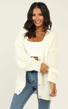Im A Winner Cardigan In White