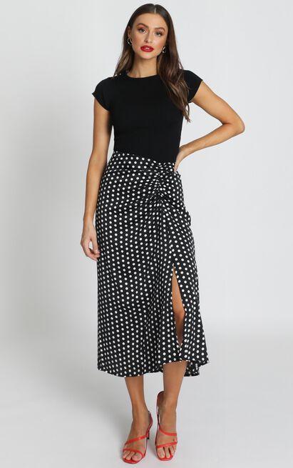 Wasnt Me Skirt In Black Spot - 12 (L), Black, hi-res image number null