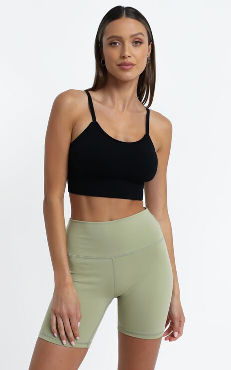 Pauly Activewear Crop Top in Black