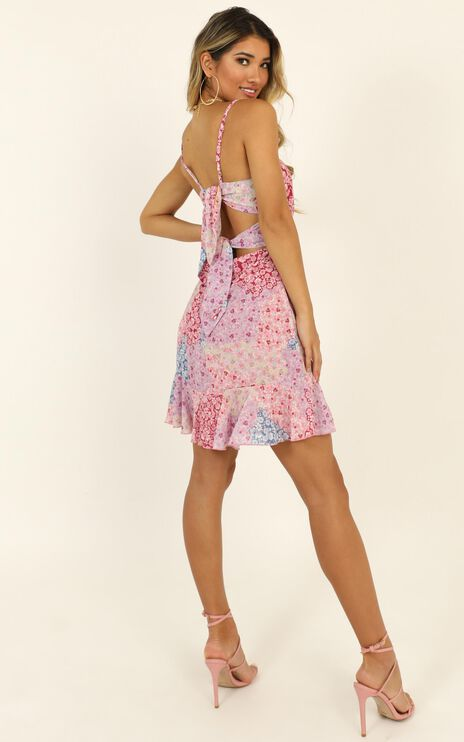 Falling In Love Dress In Pink Floral