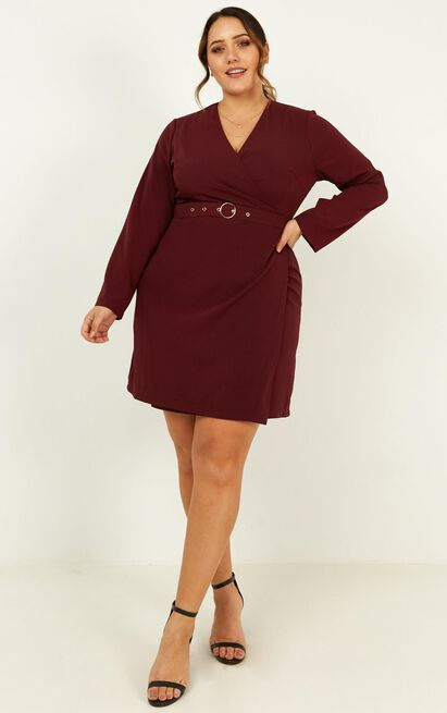 On Task Dress in aubergine - 20 (XXXXL), Purple, hi-res image number null