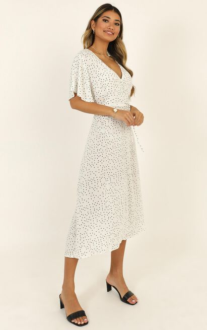 Go The Extra Mile dress in white spot - 14 (XL), White, hi-res image number null