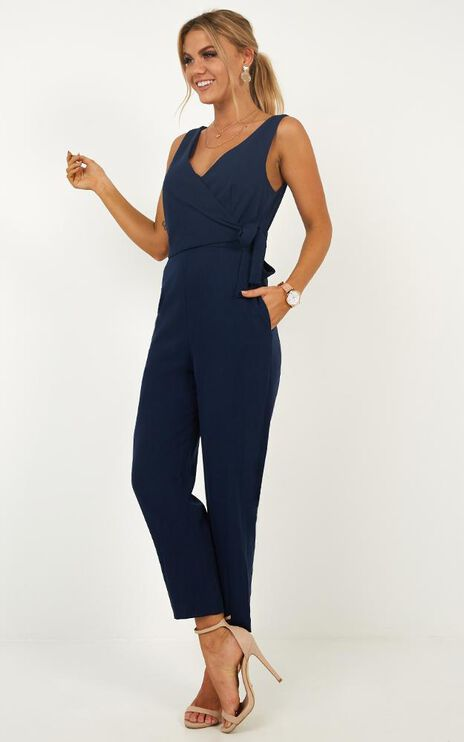 Let It Happen Jumpsuit In Navy