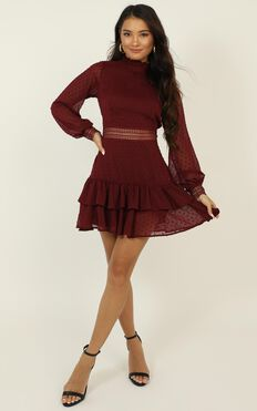 Are You Gonna Kiss Me Dress In Wine