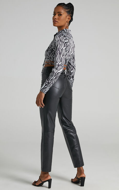 Dilyenne Pants in Black Leatherette