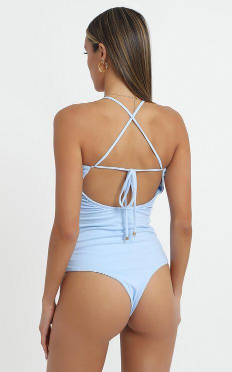 Kippa Bodysuit in Powder Blue
