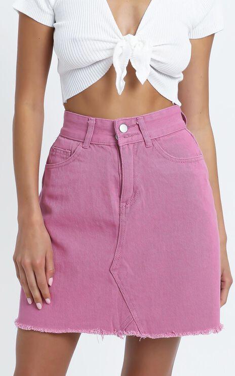Hilary Denim Skirt in Rose