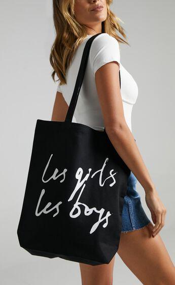 Les Girls Les Boys - Kindi Shopper in Black