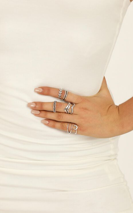 Be Your Shadow Ring Set in Silver