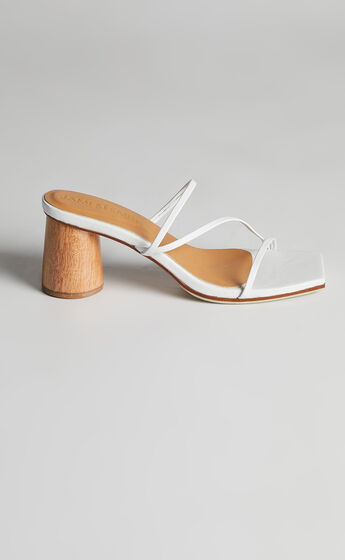 James Smith - Amore Mio Strappy Sandal in White