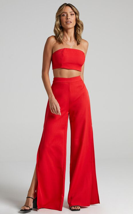 Im The One Two Piece Set in Red