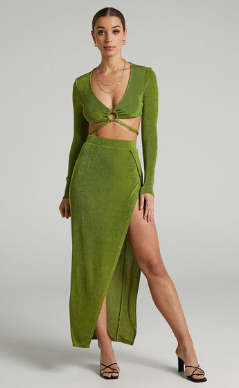 Runaway The Label - Meile Maxi Skirt in Grass